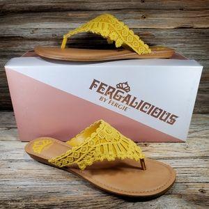 Fergalicious by Fergie Samba Mustard Yellow Sandal